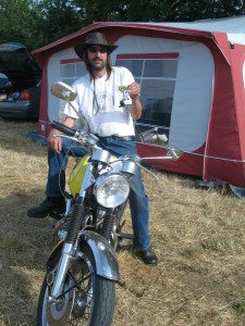 Tim wins the Weeting Show Motorcycle Trophy