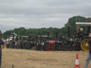 Steam Engine line up in the ring